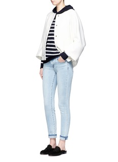 Vince Breton stripe cashmere hooded sweater