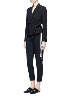 Helmut Lang Belted virgin wool gabardine jacket