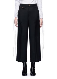 Helmut LangWool sateen twill cropped wide leg pants