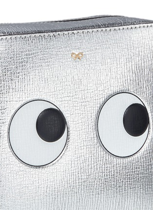 Detail View - Click To Enlarge - Anya Hindmarch - 'Eyes' embossed metallic leather crossbody bag