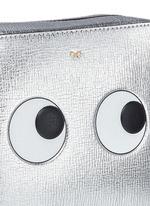 'Eyes' embossed metallic leather crossbody bag
