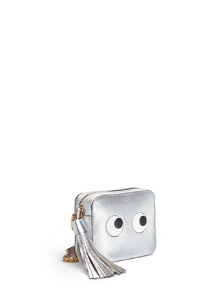 Front View - Click To Enlarge - Anya Hindmarch - 'Eyes' embossed metallic leather crossbody bag