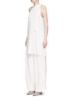 Theory'Espere' tile print silk dress