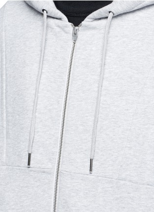 Detail View - Click To Enlarge - T By Alexander Wang - Dip hem hooded jersey parka