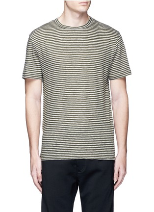Main View - Click To Enlarge - T By Alexander Wang - Stripe linen T-shirt