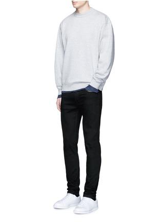 T By Alexander Wang-Stripe linen T-shirt