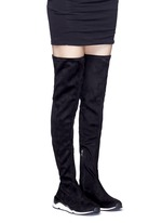 'Miracle' faux suede thigh high sneakers