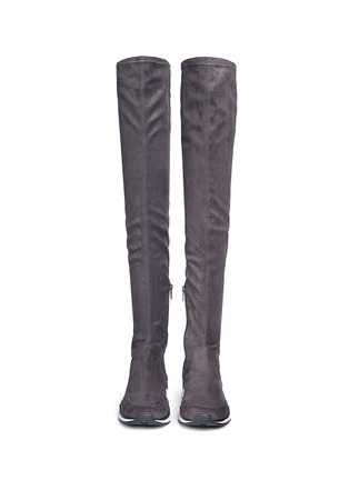 Front View - Click To Enlarge - Ash - 'Miracle' faux suede thigh high sneakers