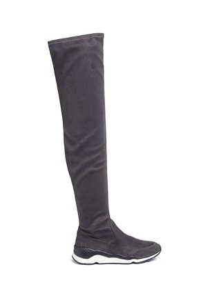 Main View - Click To Enlarge - Ash - 'Miracle' faux suede thigh high sneakers