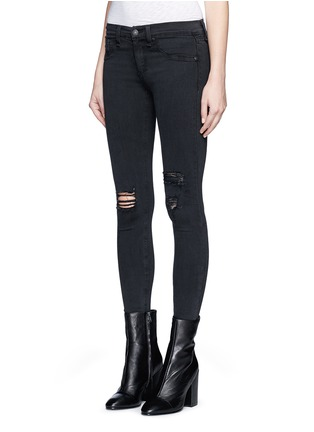Front View - Click To Enlarge - rag & bone/JEAN - 'Night' distressed skinny denim pants