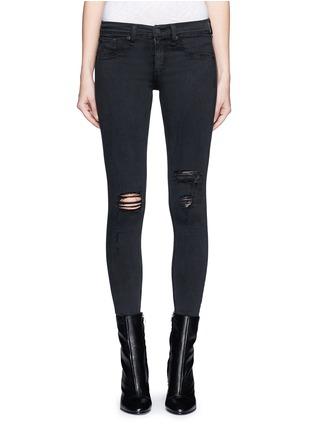 Main View - Click To Enlarge - rag & bone/JEAN - 'Night' distressed skinny denim pants