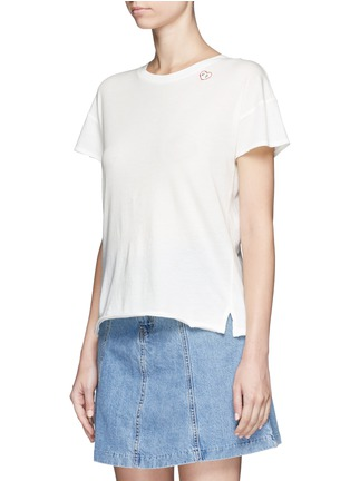 rag & bone/JEAN - 'Vintage Crew' heart embroidered T-shirt