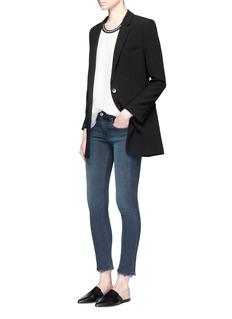 rag & bone/JEAN'Capri' distressed cuff skinny jeans