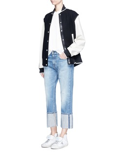 rag & bone/JEAN 'Marilyn' cropped foldup cuff jeans