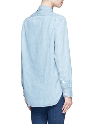 Back View - Click To Enlarge - rag & bone/JEAN - Heart embroidered cotton chambray boyfriend shirt
