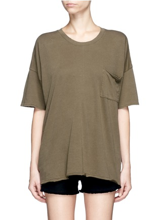 Main View - Click To Enlarge - rag & bone/JEAN - 'The Big Tee' pocket oversized cotton T-shirt