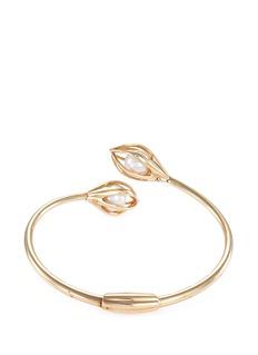 Mellerio 'Bourgeons de Lys' pearl 18k yellow gold cuff