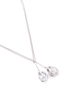 Mellerio 'Bourgeons de Lys' diamond Tahitian pearl floral pendant necklace