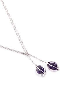 Mellerio 'Bourgeons de Lys' amethyst floral pendant necklace