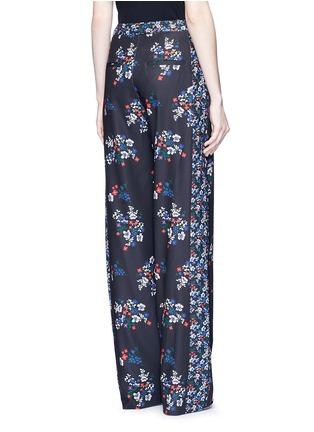 Back View - Click To Enlarge - Nicholas - 'Posie' floral print sateen pants