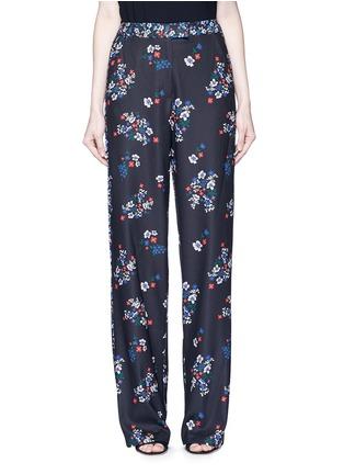 Main View - Click To Enlarge - Nicholas - 'Posie' floral print sateen pants