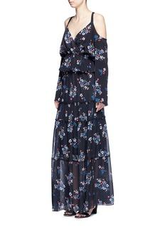 NICHOLAS'Posie' floral print tiered silk maxi skirt