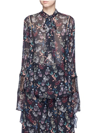 Main View - Click To Enlarge - Nicholas - Garden floral print batwing silk shirt