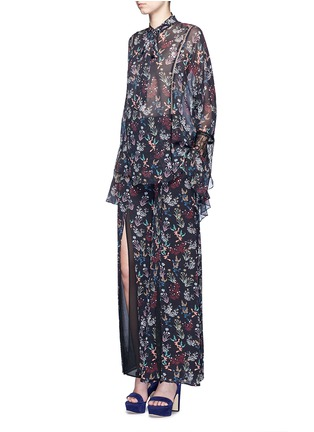 Figure View - Click To Enlarge - Nicholas - Garden floral print batwing silk shirt