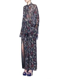 NicholasGarden floral print batwing silk shirt