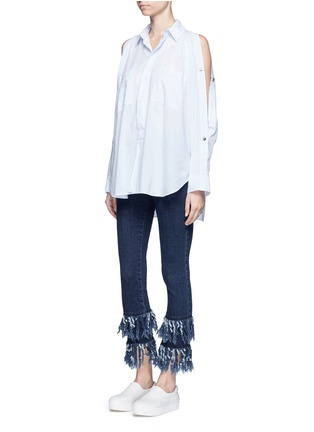Figure View - Click To Enlarge - Nicholas - Frayed cuff flare jeans