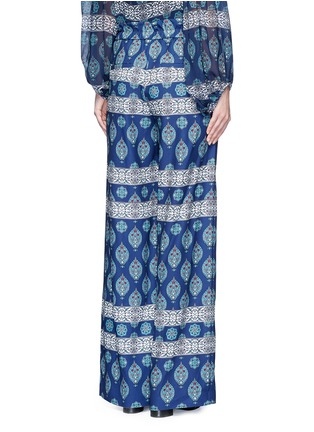 Back View - Click To Enlarge - Nicholas - Temple print crepe palazzo pants