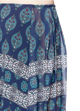 Detail View - Click To Enlarge - Nicholas - Temple print off-shoulder chiffon top