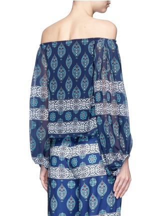 Back View - Click To Enlarge - Nicholas - Temple print off-shoulder chiffon top