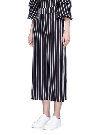 Front View - Click To Enlarge - Nicholas - Split side stripe culottes