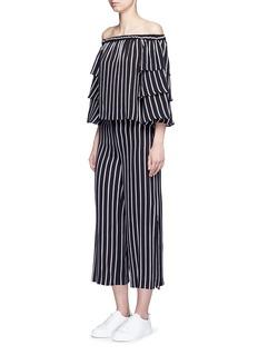 NICHOLASSplit side stripe culottes