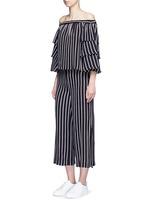 Split side stripe culottes