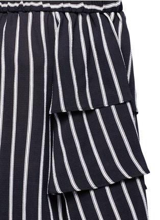 Detail View - Click To Enlarge - Nicholas - Stripe tiered sleeve off-shoulder top