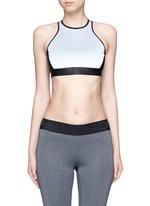 Reflective power sports bra