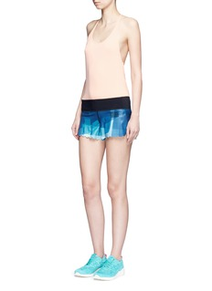 Monreal London'Scallop' shadow print performance jersey shorts