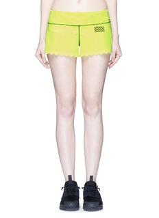 Monreal London'Scallop' performance jersey training shorts