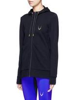 'Halo' hooded wool blend zip jacket