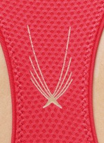 Technical knit racerback sports bra