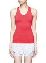 Technical knit racerback tank top