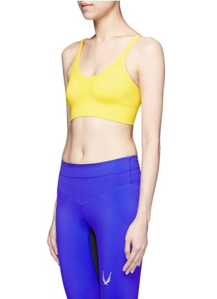 Front View - Click To Enlarge - Lucas Hugh - Technical knit sports bra