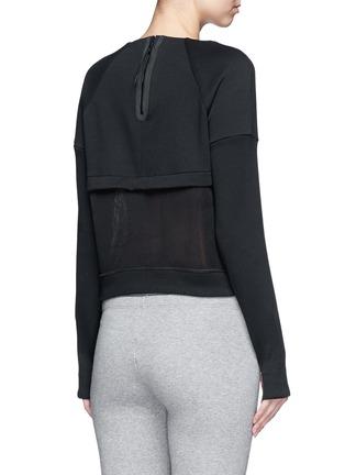 Back View - Click To Enlarge - Nike - 'Tech Fleece Mesh Crew' sweatshirt