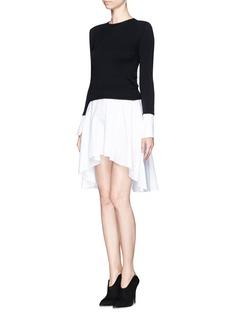 ALEXANDER MCQUEENShirt insert sweater dress