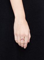 'Kaleidoscope' diamond gemstone pavé ring