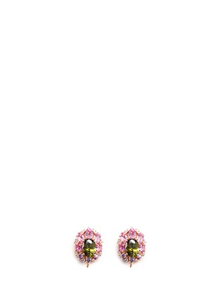 Detail View - Click To Enlarge - Anabela Chan - 'Opals' opal diamond gemstone detachable drop earrings