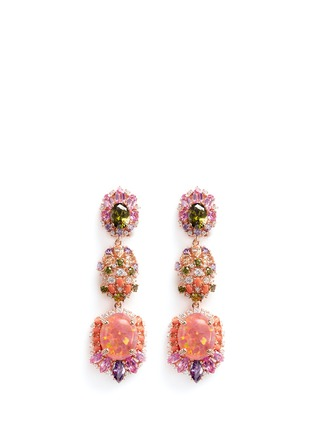Main View - Click To Enlarge - Anabela Chan - 'Opals' opal diamond gemstone detachable drop earrings