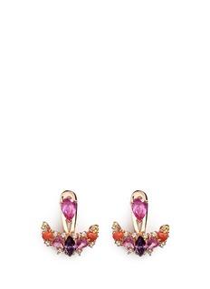 Anabela Chan'Twinkle' diamond gemstone pavé jacket earring